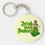 Irish Belly Dancer Basic Round Button Keychain