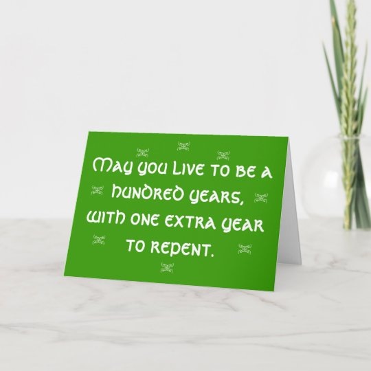 Irish Birthday Blessing Card Zazzle