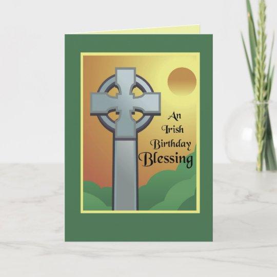Irish birthday blessing card zazzle irish birthday blessing card m4hsunfo