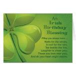 Irish Birthday Blessing Wish Greeting Card
