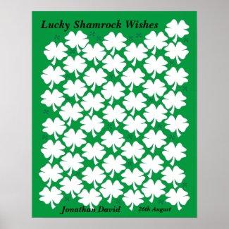 Irish Birthday Gift - Guest Book Poster