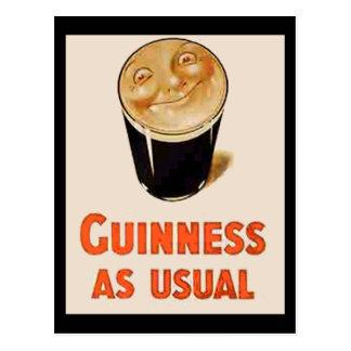 Irish Black Beer Postcard