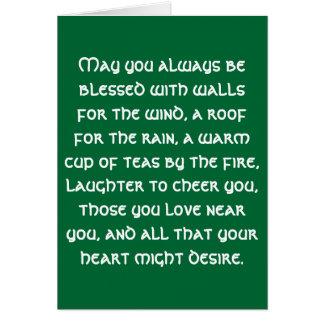 Irish Blessing 1 Card