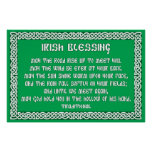 Irish Blessing 1 in Celtic Knot Frame Posters