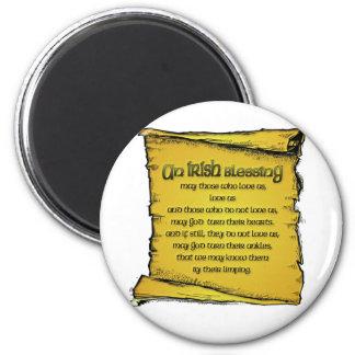 Irish Blessing 2 Inch Round Magnet