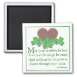 irish Blessing 2 Inch Square Magnet