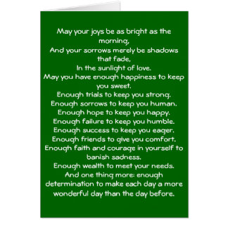 Irish Blessing 4 Stationery Note Card