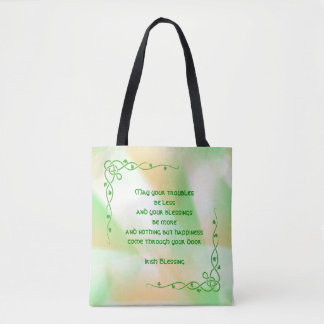 Irish Blessing (#4) St Patrick's Day Orange, Green Tote Bag