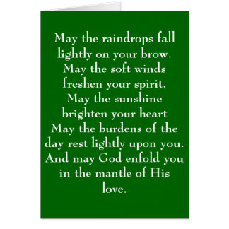 Irish Blessing 5 Stationery Note Card