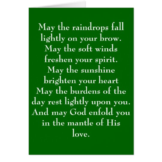Irish Blessing 5 Card