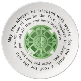 Irish Blessing and Celtic Cross Dinner Plate