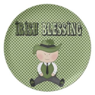 Irish Blessing Boy St. Patrick's Day Kids Plate