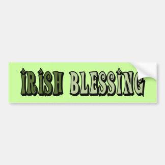 Irish Blessing Car Bumper Sticker