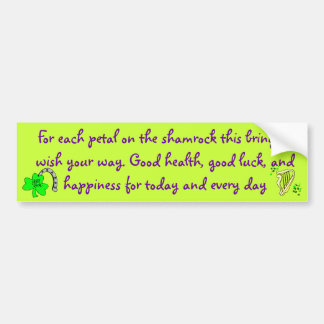 Irish blessing bumper sticker