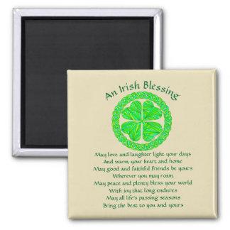 Irish Blessing Celtic Shamrock Magnet