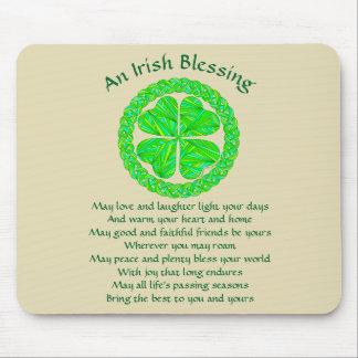 Irish Blessing Celtic Shamrock Mouse Pad