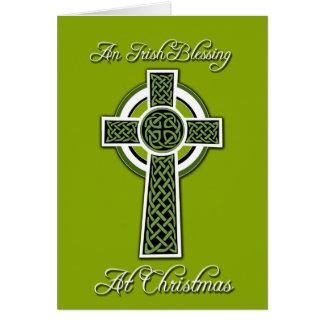 Irish Blessing  Christmas Greeting Card