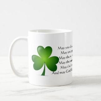 Irish blessing classic white coffee mug