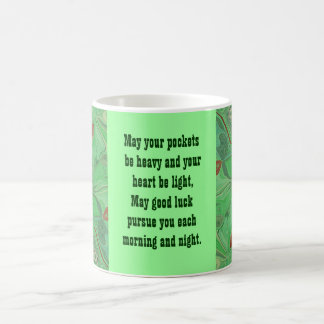 Irish blessing coffee cup