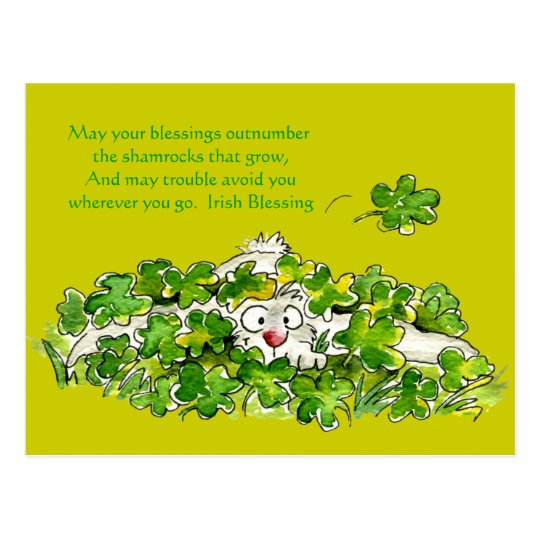 Irish Blessing Cute Cartoon St. Paddys Postcards