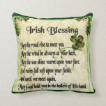 irish blessing/double unicorns pillow