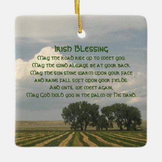 Irish Blessing Farmland Ceramic Ornament
