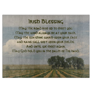 Irish Blessing Farmland Photo Cutting Board