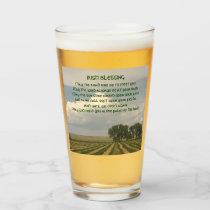 Irish Blessing Farmland Photo Glass
