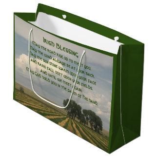 Irish Blessing Farmland Photo Large Gift Bag