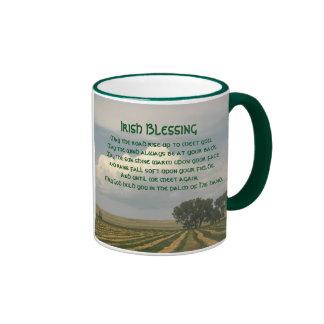 Irish Blessing Farmland Photo Ringer Mug