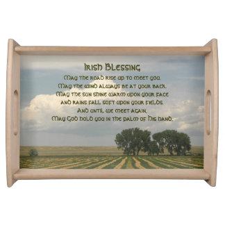 Irish Blessing Farmland Serving Platters