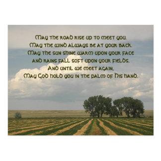 Irish Blessing Farmland Postcard