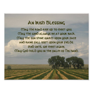 Irish Blessing Farmland Poster