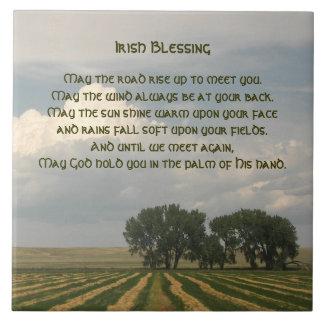 Irish Blessing Farmland Large Square Tile