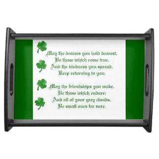 Irish Blessing Food Trays
