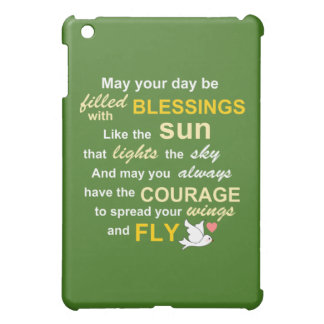 Irish Blessing for Courage - Typography in Green Case For The iPad Mini