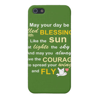 Irish Blessing for Courage - Typography in Green Covers For iPhone 5