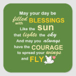Irish Blessing for Courage - Typography in Green Stickers