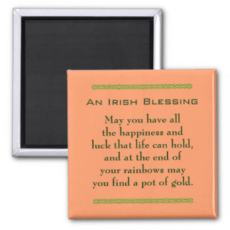 Irish blessing for happiness & good luck magnet