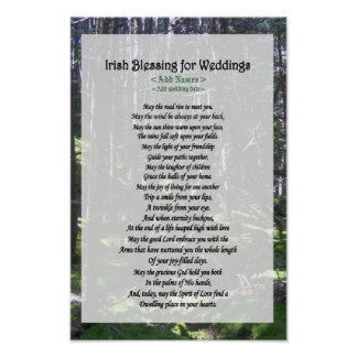 Irish Blessing for Weddings - Customize Posters