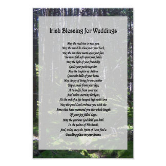 Irish Blessing For Weddings Posters