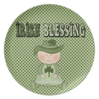 Irish Blessing Girl St. Patrick's Day Kids Plate