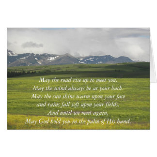 Irish Blessing Green Valley Greeting Card