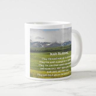 Irish Blessing Green Valley Photo 20 Oz Large Ceramic Coffee Mug