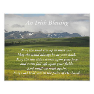 Irish Blessing Green Valley Photo Poster