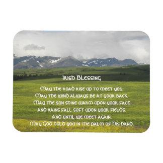 Irish Blessing Green Valley Rectangular Photo Magnet