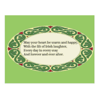 Irish Blessing - Heart be Warm & Happy Postcard