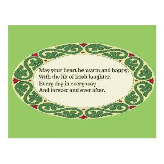 Irish Blessing - Heart be Warm & Happy Postcard