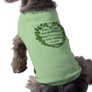 Irish blessing heart dog shirt