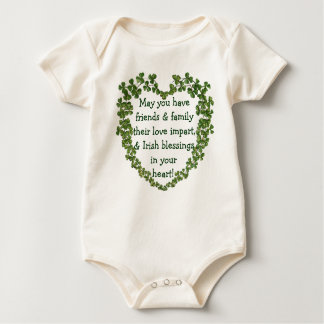 Irish blessing heart infant onsie bodysuits